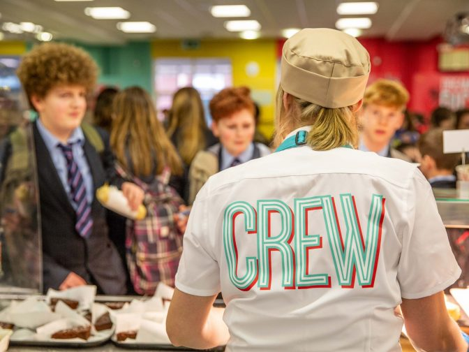 Norse Catering - Fresssh branding in a Norfolk high school