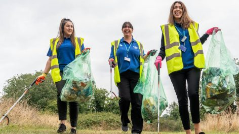 NorseCare staff taking part in the Norse Group's annual tidy up in 2019