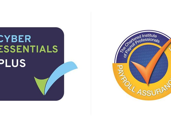 Cyber Essentials and Payroll Assurance accreditations