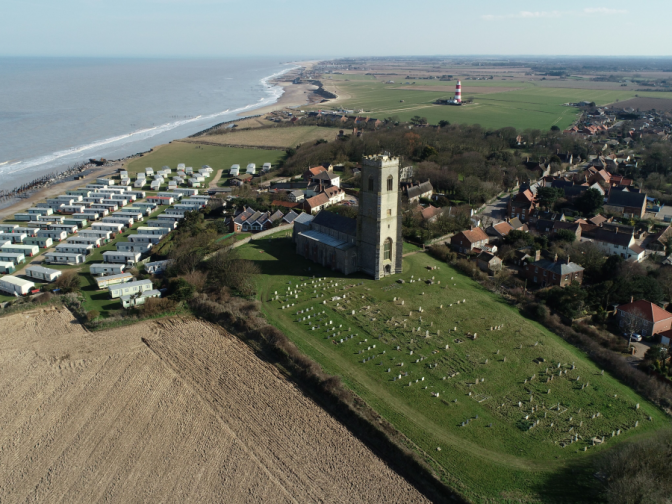 Use of drones on the North Norfolk coast, Happisburgh