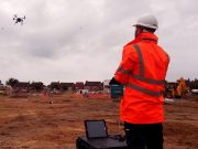 Land surveying team using drones in a consultancy service