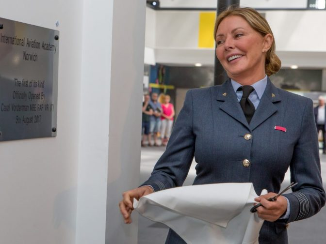 International Aviation Academy Norwich - Carol Vorderman