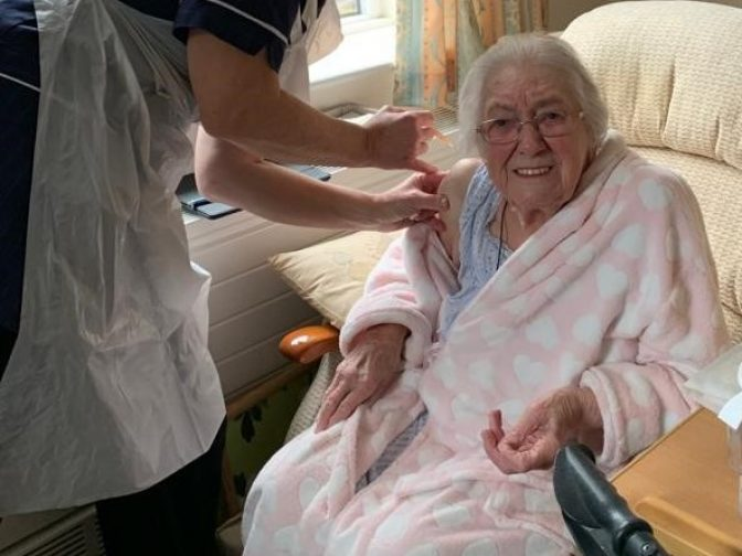 Woodlands care home vaccine