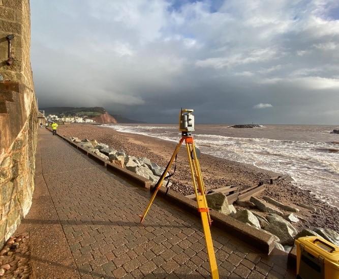Sidmouth beach ramp
