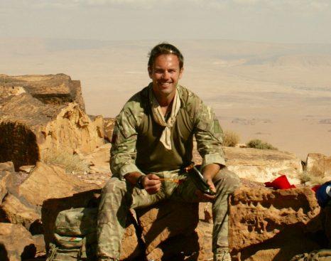 Lt Col Robinson in Jordan
